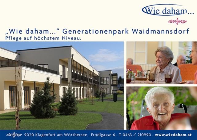 """""""Wie daham…"""" Generationenpark Waidmannsdorf"""