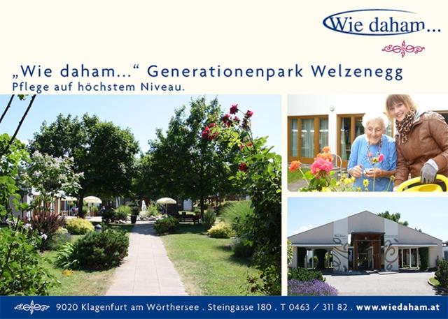 """Wie daham…"" Generationenpark Welzenegg"